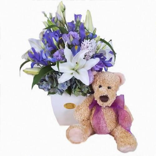 blue flowers alt